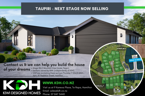 Sections available now in Taupiri