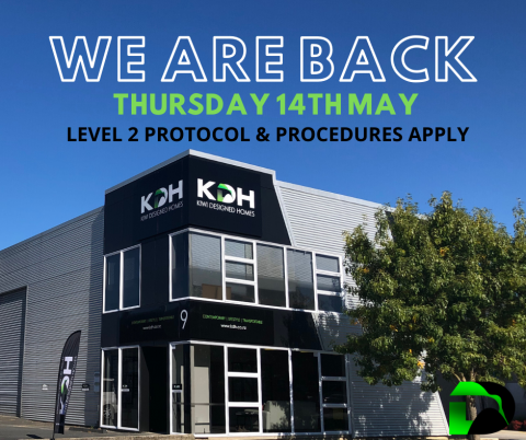 14th May We're Back!  Level 2 Protocols & Procedures Apply