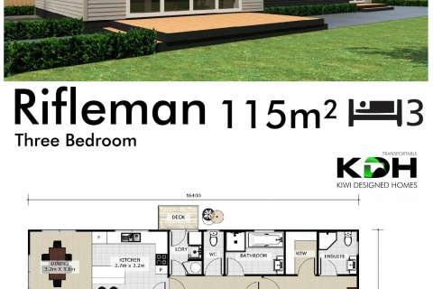 Interactive Rifleman 3 bedroom Plan