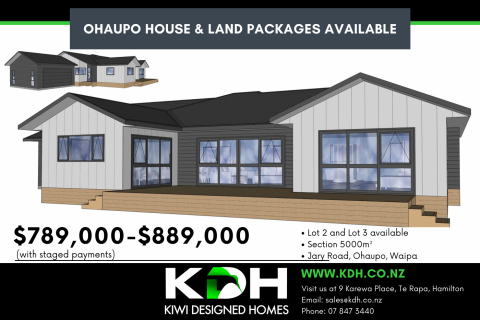 House and Land Packages - Ohaupo